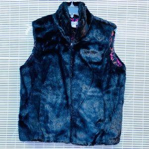 DVF Silk Assets Faux Fur Vest